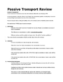 Passive and Active Transport Notes