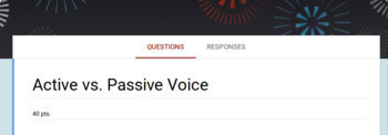 Passive and Active Voice (Google Form)