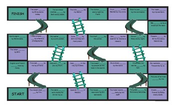 Passive versus Active Voice Legal Size Text Chutes and Ladders Game