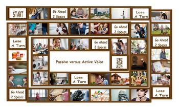Passive versus Active Voice Legal Size Photo Board Game