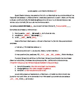 Passive voice story and writing activity