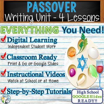Passover Writing BUNDLE! -  Argumentative, Persuasive, Expository, Narrative