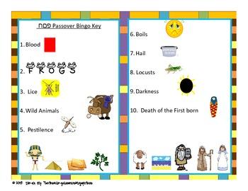 Passover Bingo - The Exodus from Egypt