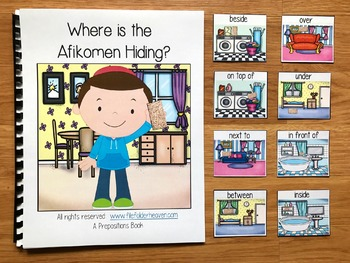 """Passover Free:  """"Where is the Afikomen Hiding?"""" Adapted Book"""