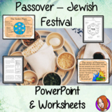 Passover, Jewish Festival   -  PowerPoint and Worksheets