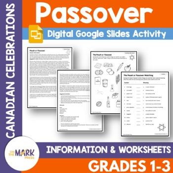 Passover Lesson Plan Gr. 1-3