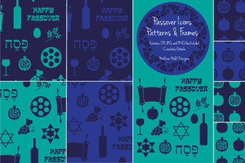 Passover Patterns, Icons, and Frames Clipart