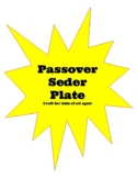 Passover Pesach Seder Plate