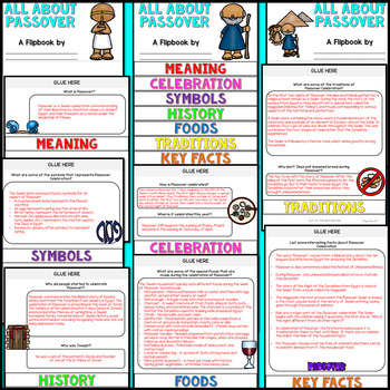 Passover Research Flipbook (All About Passover Facts & Activities)