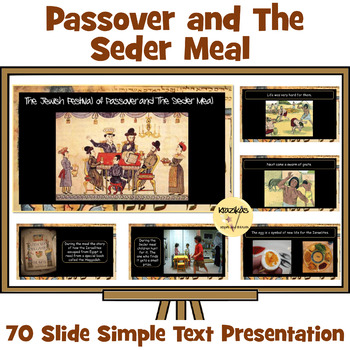 Passover - Simple Text Presentation For Younger / Special Education Students