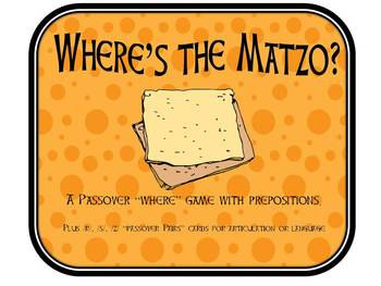 """Passover """"Where's the Matzo?""""Activity with Prepositions"""