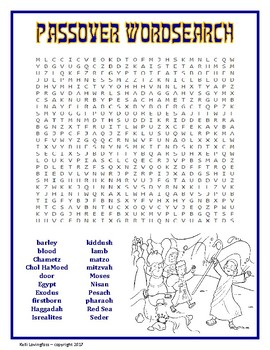 Passover Wordsearch
