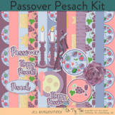 Passover or Pesach Clip Art, Elements, Background Papers
