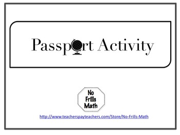Passport Activity for Any Subject Area