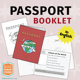 Passport Booklet in English ~ Geography Fair, Around the World Unit