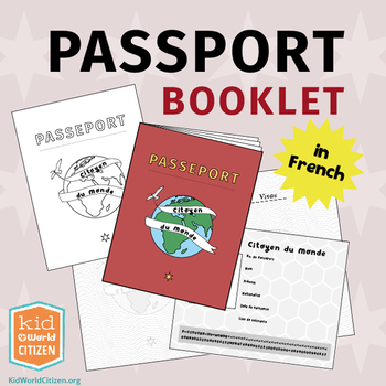 Passport Booklet in French ~ Geography Fair, Around the World Unit