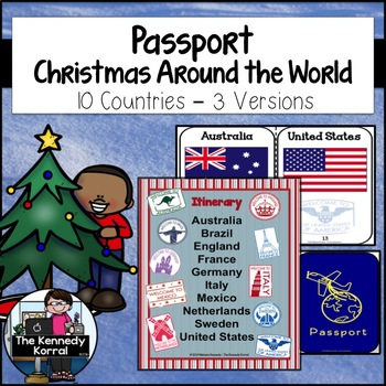 Christmas Around the World PASSPORT {Three Versions along with Passport Stamps}