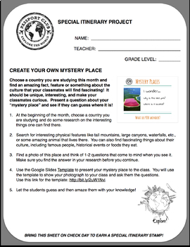 Mystery Places Activity