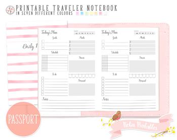 Passport Daily Planner Traveler Notebook Refill