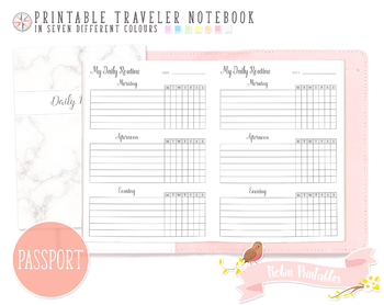 Passport Daily Routine Traveler Notebook Refill