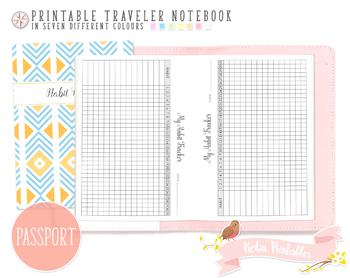 graphic relating to Monthly Habit Tracker Printable called Pport Regular Practice Tracker Traveler Laptop Refill