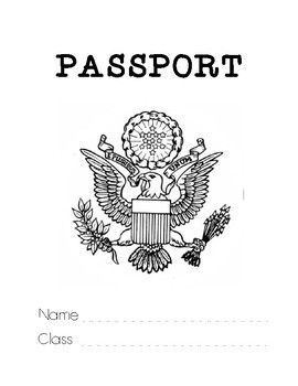 Passport Notebook Template Set (Interactive Notebooks for Geography)