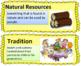 Passport Social Studies Grade 3: Unit 1 Word Wall Cards (2 versions)