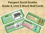 Passport Social Studies Grade 4: Unit 2 Word Wall Cards