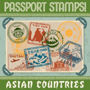 Passport Stamp Bundle - Asian Countries