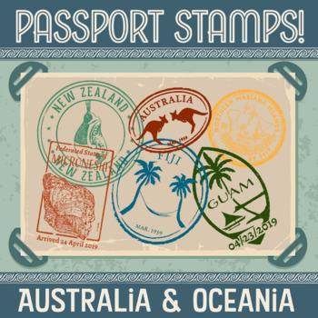 Passport Stamp Bundle - Australia and Oceania