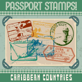 Passport Stamp Bundle - Caribbean Countries
