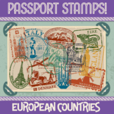 Passport Stamp Bundle - European Countries