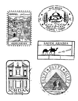 Passport Stamp Bundle - Middle Eastern Countries