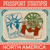 Passport Stamp Bundle - North America Countries