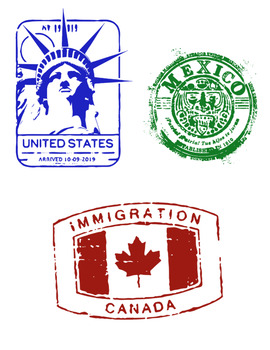 Passport Stamp Bundle - North America Countries