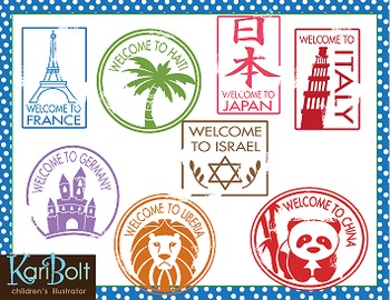 passport stamps clip art by kari bolt clip art tpt rh teacherspayteachers com passport stamps clipart png italian passport stamps clipart