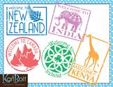 Passport Stamps Clip Art 2 and Passport Printable