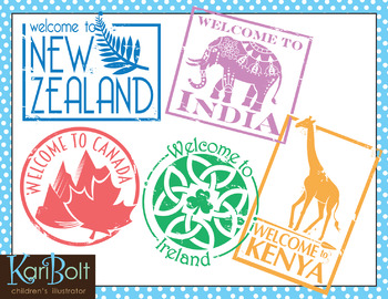 Passport Stamps Clip Art 2 And Printable