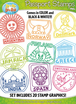 graphic regarding Printable Passport Stamps for Kids known as Pport Stamp Worksheets Education Components TpT
