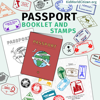 Passport Booklet Stamps Growing Bundle Around The World Unit Geography Fair