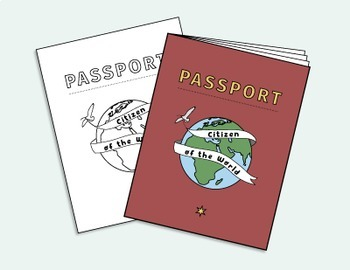 Passport Booklet & Stamps Growing Bundle: Around the World Unit, Geography Fair