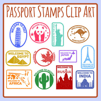 photo relating to Printable Passport Stamps for Kids identified as Pport Stamp Worksheets Instruction Elements TpT