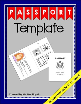 Passport Template Worksheets Teaching Resources Tpt