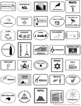 picture about Printable Passport Stamps for Kids identify Pport Template
