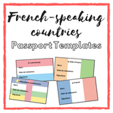Passport Templates: French-Speaking Countries