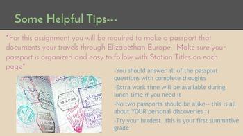 Passport Through Time- Shakespeare Scaffolding Activity