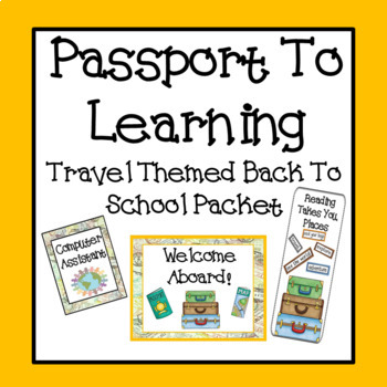 Passport To Learning Travel Theme Packet