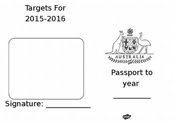 Passport To The Next Year Writing Frames