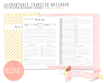 Passport Work Day Traveler Notebook Refill