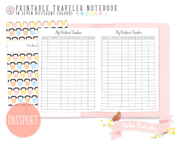 picture regarding Workout Tracker Printable identified as Pport Exercise routine Tracker Traveler Laptop computer Refill